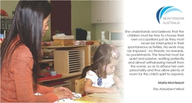 Teacher watching child at work in Montessori classroom