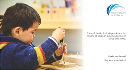 Child working with screwdriver in Montessori classroom
